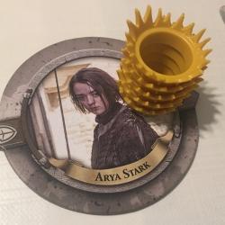 Arya Stark et ses 5 couronnes de pouvoir