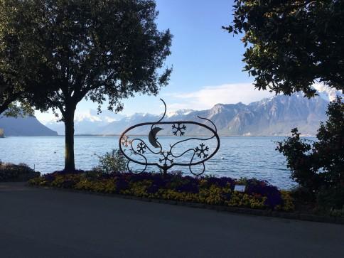 Les quais à Montreux...